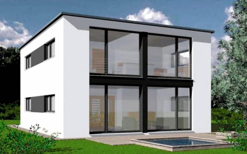 Digitales Beispielhaus Pultdachhaus