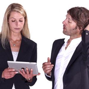 Mann und Frau Beratung