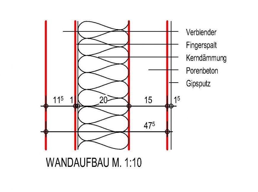 Wandaufbau 47,5 cm