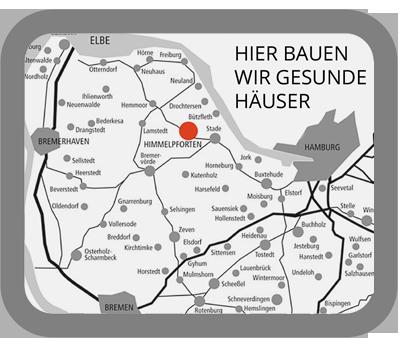 Karte Norddeutschlands Mittelstädt Standort