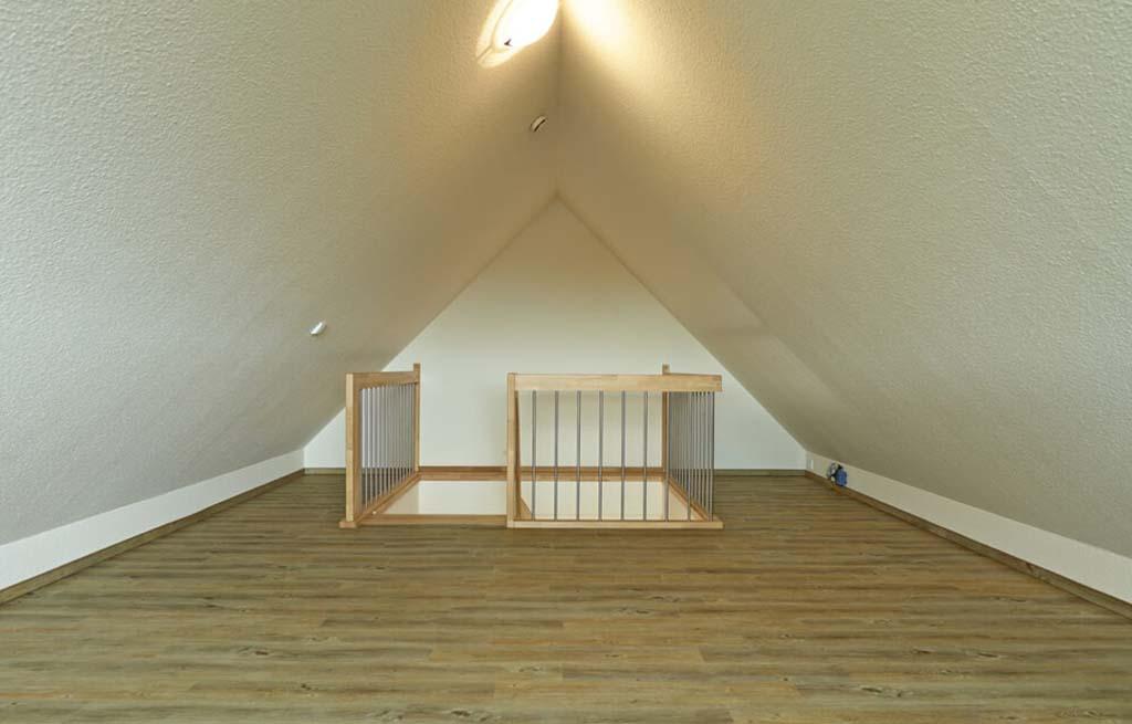 Doppelhaus 116D Spitzboden Innenansicht