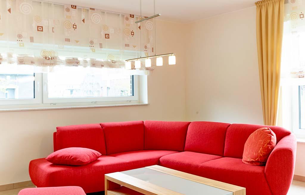 Doppelhaus 116D modernes Wohnzimmer